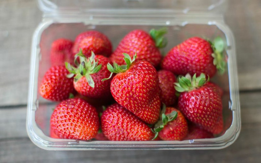 Organic Albion Strawberries