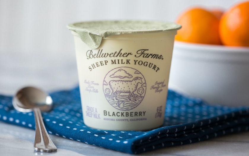 Blackberry Sheep's Milk Yogurt