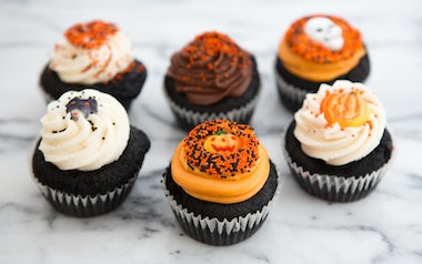 Assorted Mini Halloween Cupcakes
