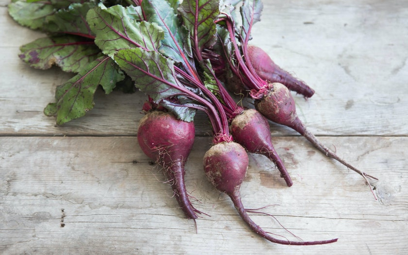 Organic Bunched Baby Red Beets