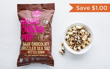 Dark Chocolate Drizzled Sea Salt Kettle Corn
