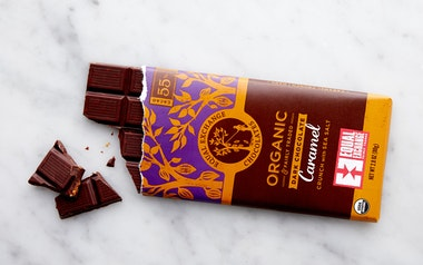 Organic Dark Chocolate Caramel Crunch with Sea Salt