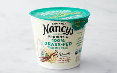 Organic Grass-Fed Whole Milk Vanilla Yogurt