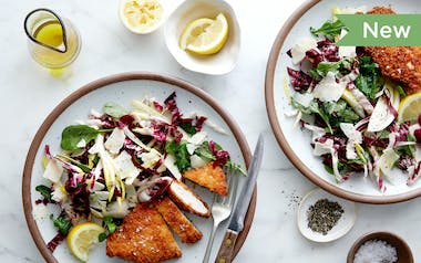 Crispy Chicken Milanese with Tricolor Salad