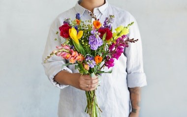 Organic Mixed Seasonal Flower Bouquet