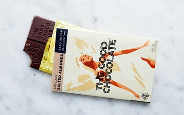 Zero Sugar 65% Salted Almond Dark Chocolate Bar