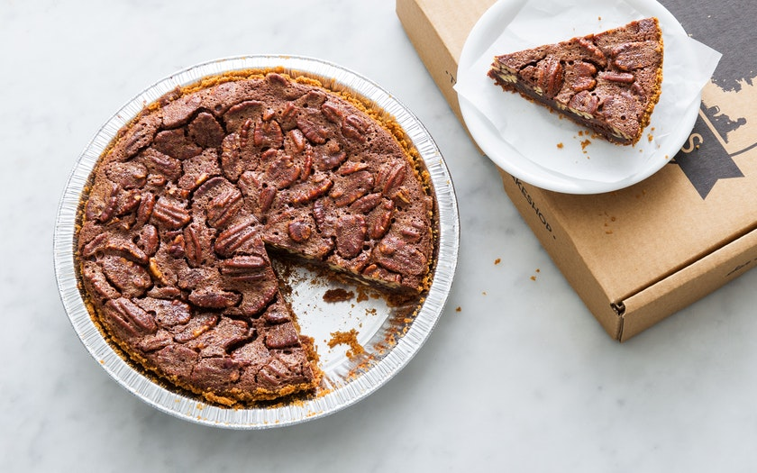 Gluten-Free Bittersweet Chocolate Pecan Pie - Three Babes ...