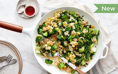 Green Fried Rice with Scrambled Eggs