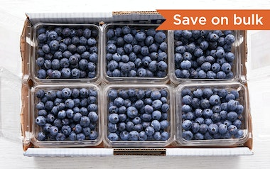 Flat of Organic Blueberries