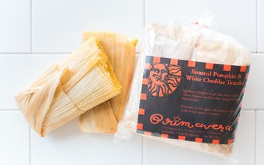 Roasted Pumpkin & White Cheddar Tamales