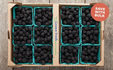 Flat of Organic Kiowa Blackberries