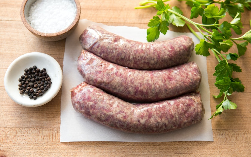Beef and Pork Bratwurst (Frozen)