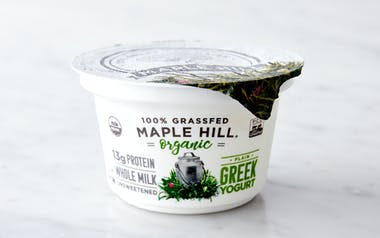 Organic Grass-Fed Plain Greek Yogurt