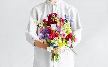 Organic Large Mixed Flower Bouquet