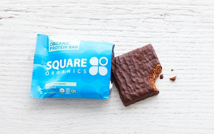 Chocolate Coated Coconut Bar - Square Organics - SF Bay