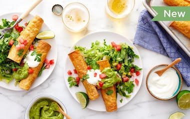 Baked Chicken Taquitos with Guacamole