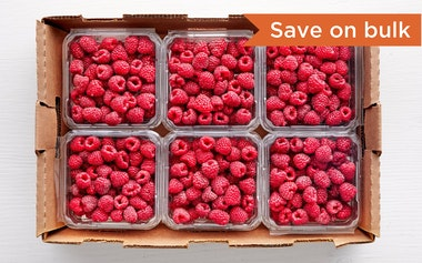 Flat of Organic Raspberries