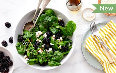 Arugula Salad with Blackberries & Goat Cheese