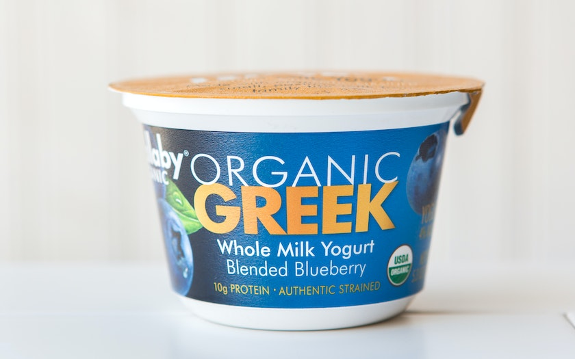 Organic Whole Milk Blueberry Greek Yogurt