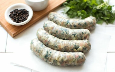 Spinach Mozzarella Chicken Sausage (Frozen)