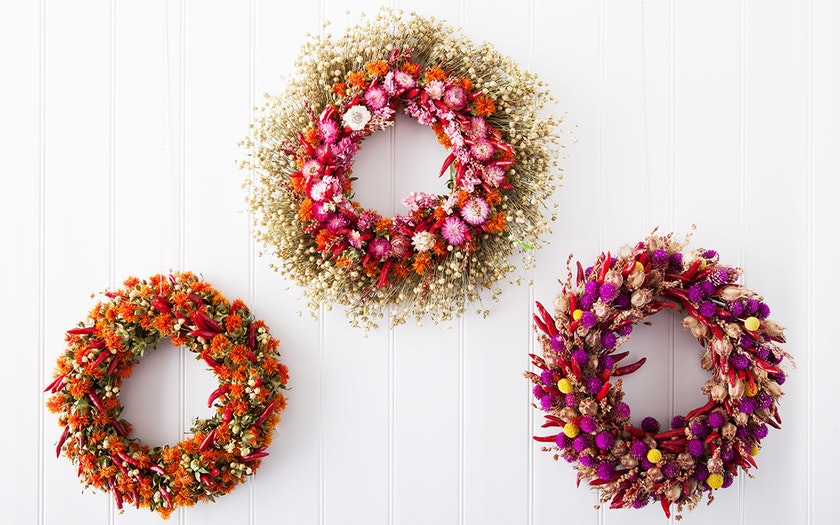 Organic Dried Flower Wreath