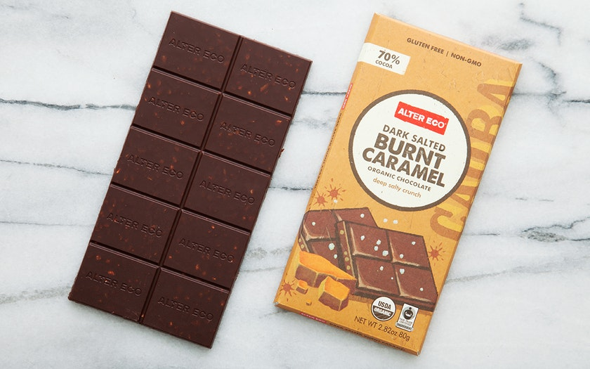 Organic Dark Salted Burnt Caramel Bar (70%)