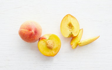 Organic Large Flavor Crest Yellow Peach Duo