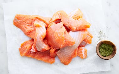 Tribal Harvested Coho Salmon Pieces