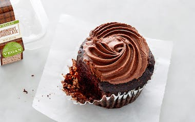Organic Vegan Midnight Chocolate Cupcake