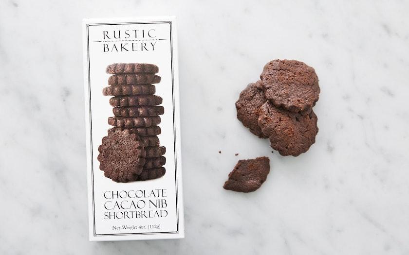 Chocolate Cacao Nib Shortbread Cookies