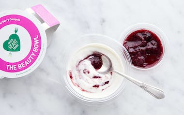 Coconut Yogurt with Mixed Berry Compote