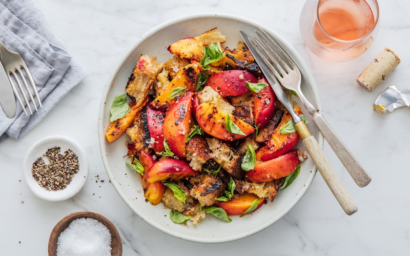 Salad for President's Grilled Peach Panzanella