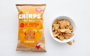 Cheddar Tortilla-Style Cricket Chips