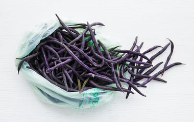 Organic Purple Wax Beans