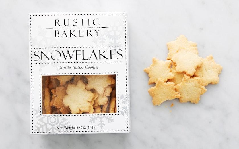 Vanilla Butter Snowflake Cookies