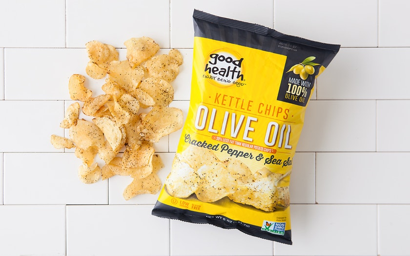 Cracked Pepper & Sea Salt Olive Oil Kettle Chips