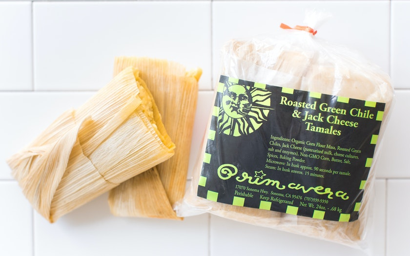 Green Chile & Jack Cheese Tamales