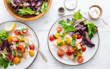 Salmon with Beets & Tomatoes