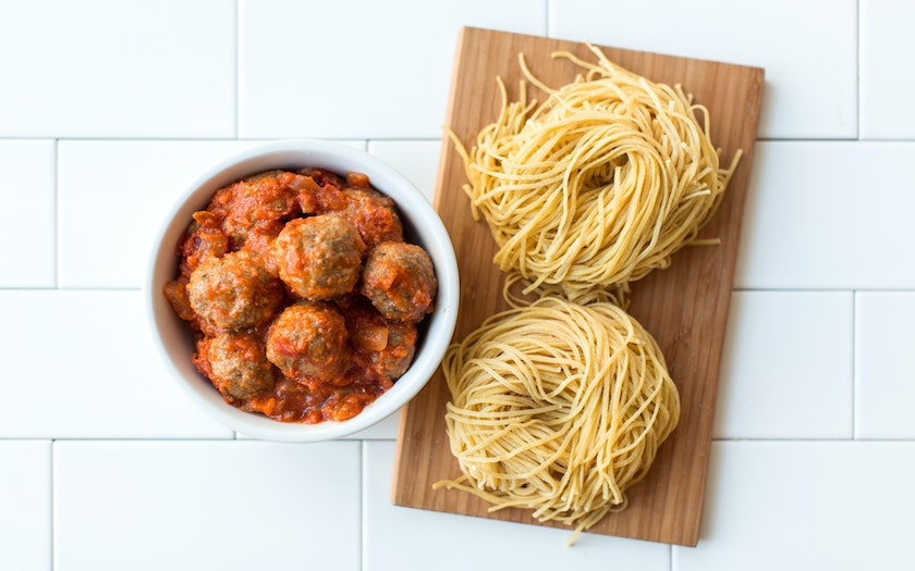 Spaghetti and Meatballs Dinner for Two