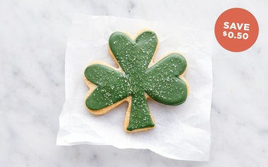 Hand-Decorated Shamrock Shortbread