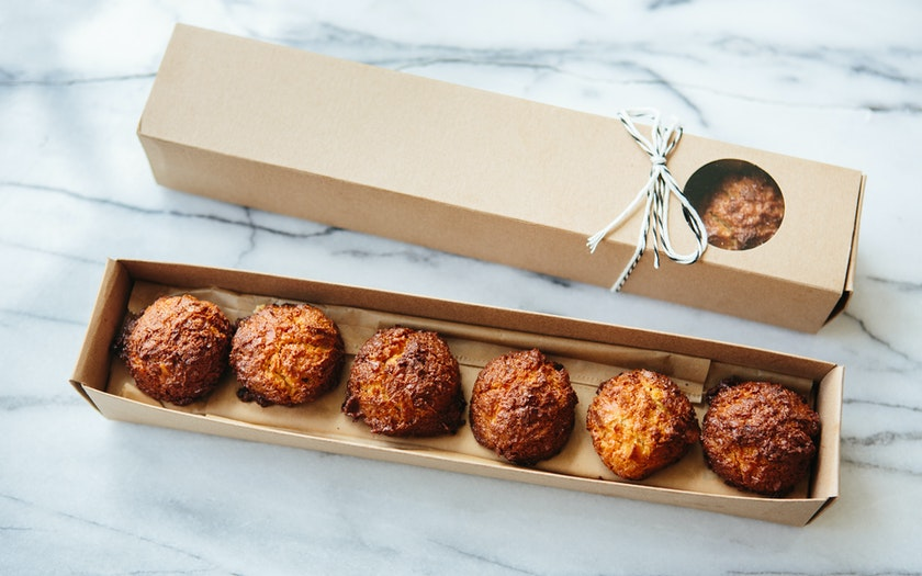 Gift Box Of Mini Coconut Macaroons Black Jet Baking Co Sf Bay Good Eggs