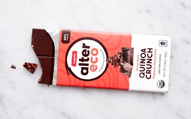 Organic Dark Quinoa Crunch Chocolate Bar (60%)
