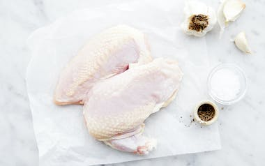 Airline Cut, Skin-On Chicken Breasts