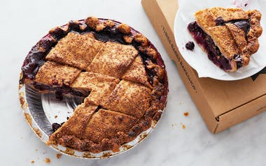 Raspberry Blueberry Lattice Pie