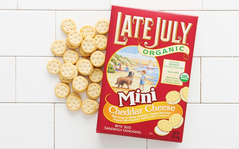 Organic Cheddar Cheese Sandwich Crackers