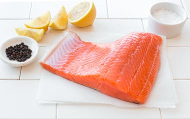 Fresh Wild California King Salmon