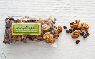 "Almond, Walnut, Raisin & Peach ""Four"" Trail Mix"