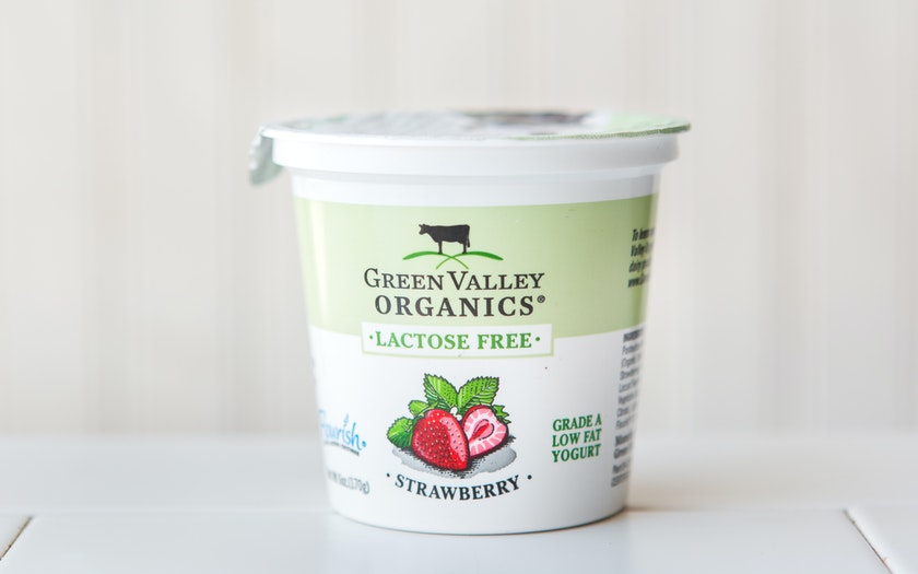 Organic Lactose Free Strawberry Yogurt