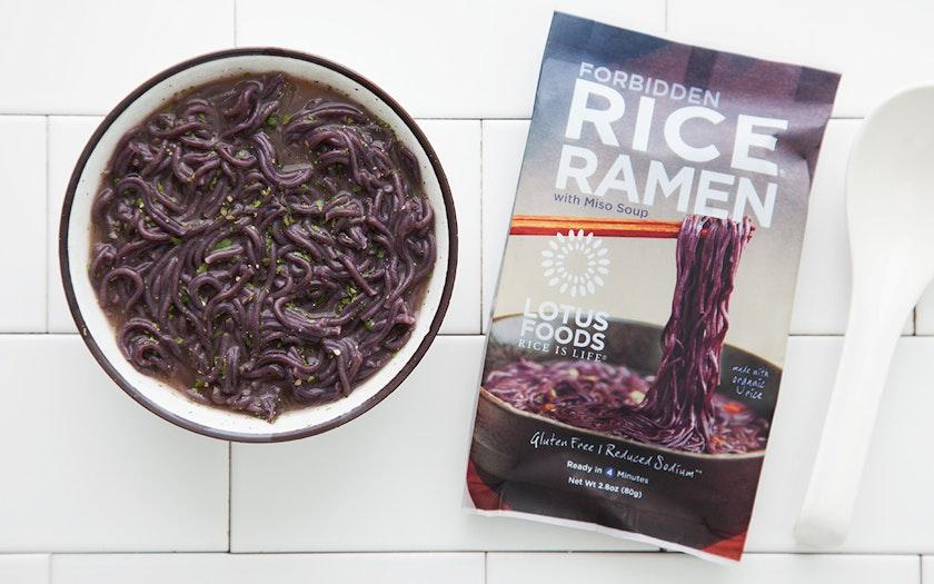 Black Rice Ramen With Miso Soup Lotus Foods Sf Bay