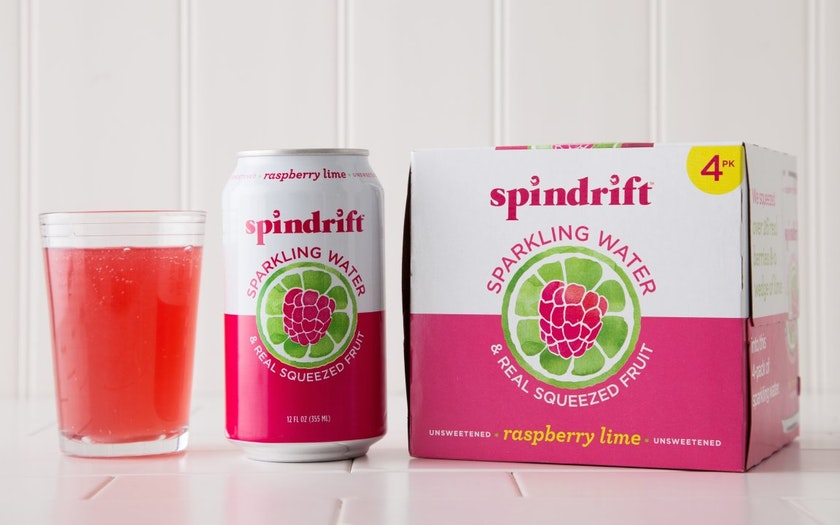 Raspberry Lime Sparkling Water